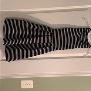 XS Blue and white striped sundress